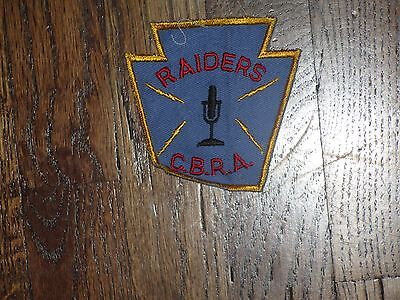 cb club, raiders cbra. patch,  60's , new old stock