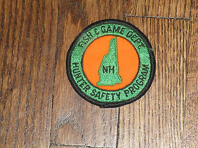 fish and game dept patch,hunter safety program,new hampshire,,nos,1960's