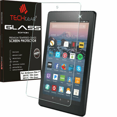 "TEMPERED GLASS Screen Protector For Amazon Fire 7"" Alexa 7th Gen / 2017"