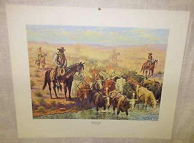 "1958 Cowboy Print "" Chisholm Trail"" By Robert Lindneux"