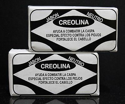 2 CREOLINA Soap For Hair Fight Dandruff Lice Strengthen Hair Root CREOLINA Jabon