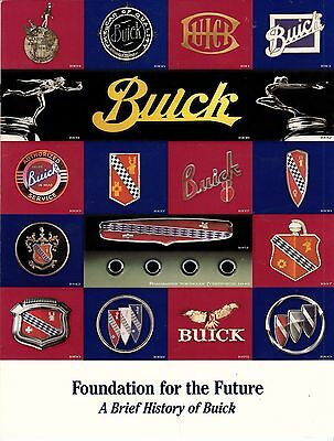 FOUNDATION FOR THE FUTURE: A BRIEF HISTORY OF BUICK (1997) 8 page Dealer Booklet