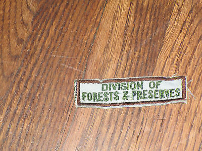 "park  ranger,ohio, tab,nos,60's""division of  forests&preserves"" set of 2"