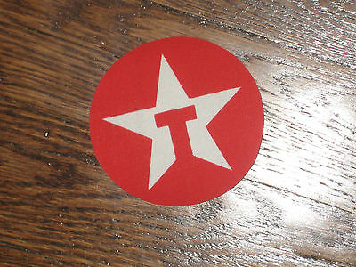 texaco white star,patch,red backround patch, iron on, new old stock, 1980's