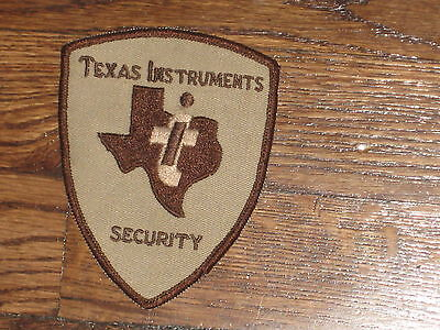 texas instruments security  ,patch,new old stock,60's