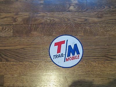 """trail mobile trailer mfg patch , new old stock.,60's 6""""x6"""""""