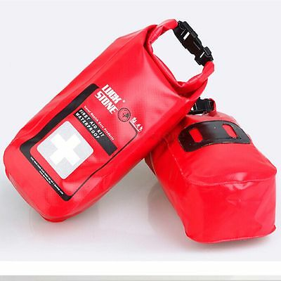 Empty 2L Waterproof Emergency Survival First Aid Treatment Kit Bag Travel Sport