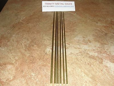 "Brass Round Rod Assortment X 12"" 1/8"", 5/32"", 3/16"" 6 Pc Over 400 Sold Discount"