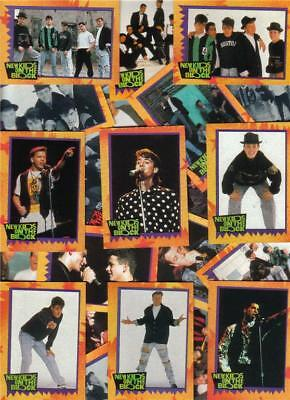 1989 NEW KIDS ON THE BLOCK pop ALL BOY GROUP music NKOTB card set