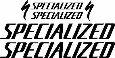 Gloss Black Specialized HR-HARDROCK Bicycle Decal Set MTB