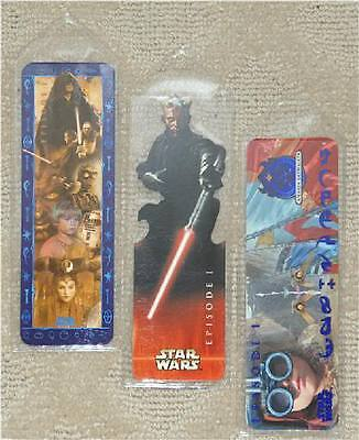 Star Wars ~ Set Of 3 Bookmarks~ New In Plasticine Covers ~ Gr8 Stocking Stuffer