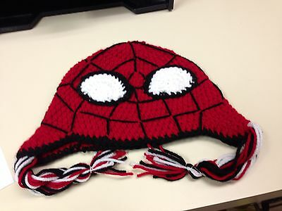 Spiderman Beanie - Hand Made In Usa Indiana