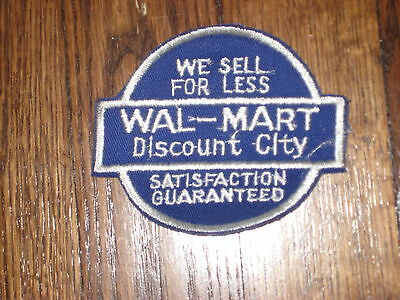 wal-mart discount city, 60's patch, new old stock,set of 2