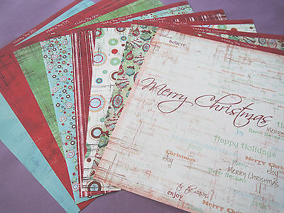 Co-ordinating Scrapbook Papers 12x12 Christmas Designs - 8/11/14 Sheets SALE
