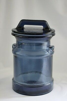 Le Smith  Cobalt Milk Can Canister With Tight Fitting Lid