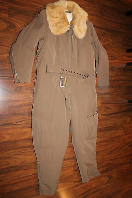 Original & Rare WW2 Japanese Army Pilot's Winter Fur Lined Flight Suit, Complete