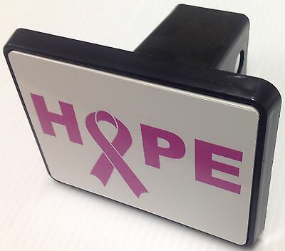 """Trailer Tow Hitch Cover Black for 2"""" Receiver Track Car SUV 5""""X4"""" Breast Cancer"""
