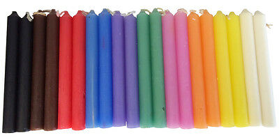 """20 Chime Spell Candles 10 colors 4"""" Pagan Wicca Hoodoo Santeria Altar Ritual"""