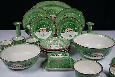 the cellar log cabin winter christmas dinnerware italy