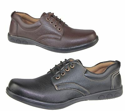 Mens Lace Up Casual Shoes Deck Loafers Walking Comfort Driving Wedding Boot Size