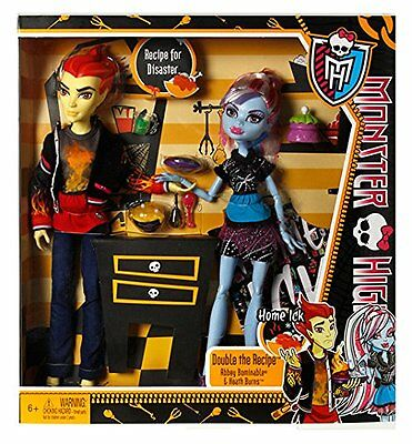 Monster High Home Ick Classroom 2 Pack Heath Burns & Abbey Bominable 2013
