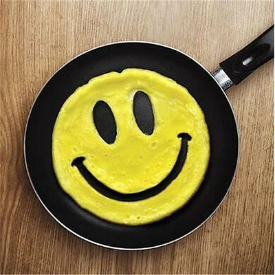 1PC Hot Silicone Friends Crack A Smile Smiley Happy Face Egg Pancake Mold Tool J