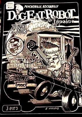 DOG EAT ROBOT magazine Issue 10 (NEW) Psychobilly fanzine Batmobile Zipheads