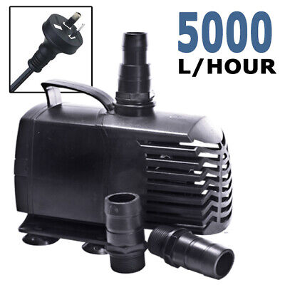 Biopro Aquarium Fish Submersible Aqua Fountain Pond Inline Water Pump 5000lph