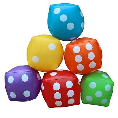 Beach Toy Soft Cube Dot Square Giant Inflatable Dice Party Garden Game 11'' 30cm