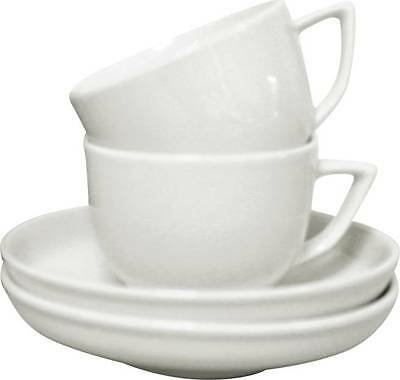 Rosenthal Set Of 2 Demi Cups & Saucers. Set Of 2 White Espresso Cups And Saucers