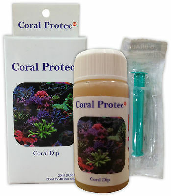 CORAL PROTEC 20ml DIPPING SOLUTION FLATWORM PARASITE PROTECTION MARINE REEF