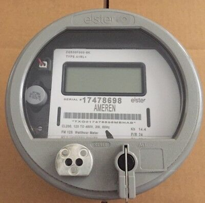 Elster, Watthour Meter (Kwh), Alpha A3T, Fm12S, 200A, 5 Lug, 3Wire, 120V - 480V