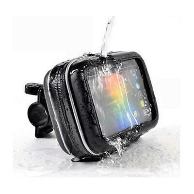 Motorcycle Handlebar Mount & Waterproof Case For 5'' Sat Nav Bigger Bar Fitting