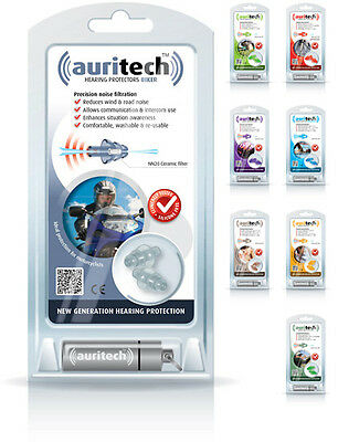 Auritech Hearing Protectors Earplugs Biker Shoot Sport Travel Sleep Music DIYBik