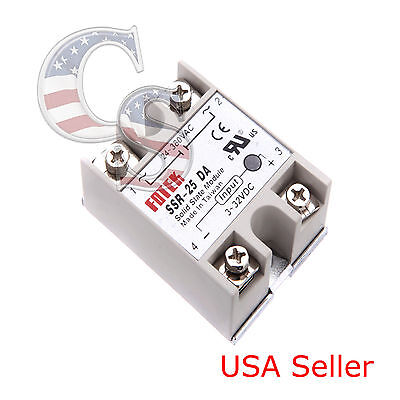 Output 24V-380V 25A SSR-25 DA Solid State Relay for Arduino Raspberry Pi