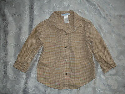 Boys JANIE And JACK Long Sleeve Button Up Shirt Sz 18-24 Months