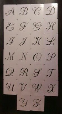 Large 5 cm height alphabet letters A - Z plastic stencils for craft Christmas