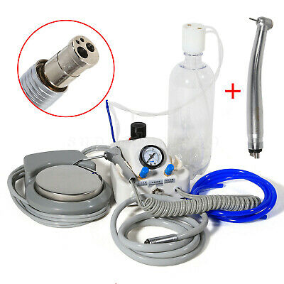 Portable Dental Turbine Unit Work with Air Compressor + High Speed Handpiece 4-H