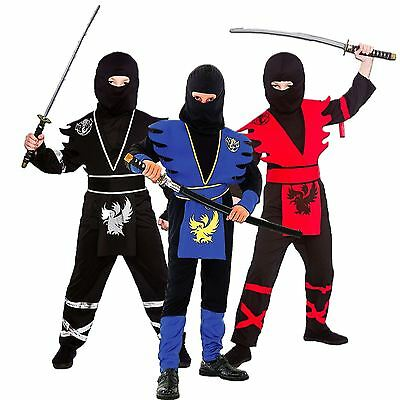 *boys Kids Childs Ninja Assassin Japanese Samurai Warrior Fancy Dress Costume*