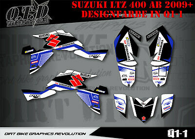 Scrub Dekor Kit Atv Suzuki Ltz 400 2009-2015 Graphic Kit Q1 B