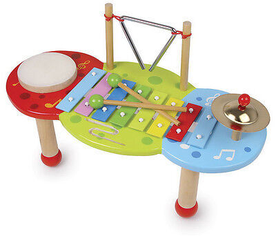 "Xylophone ""Deluxe"" Musical Instrument Wooden Orchestra Kids Drum Triangle"