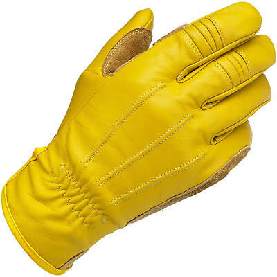 Biltwell Work Leather Motorcycle Gloves - Gold
