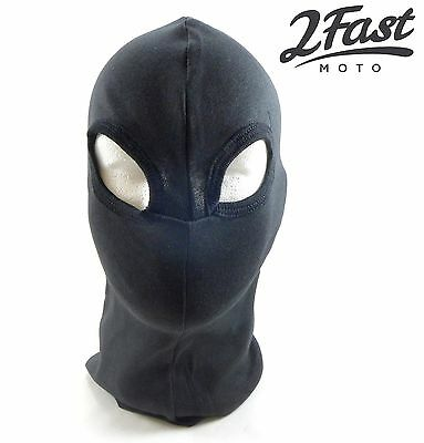 2FastMoto Balaclava Black Two Hole Facemask Motorcycle Winter Riding Gear Cold
