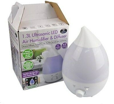 Air Humidifier, Aroma Oil Diffuser, Air Purifier & Ionizer with Night Light