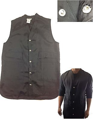 Brand New Barber Vest Hair Stylist Salon Vest V-neck Button Up