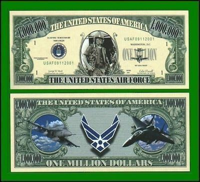 100 Factory Fresh Novelty Air Force Million Dollar Bill