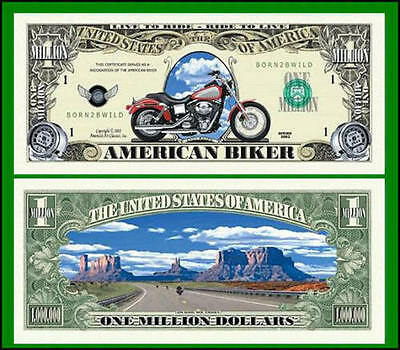 100 Factory Fresh Novelty American Biker Million Dollar Bills