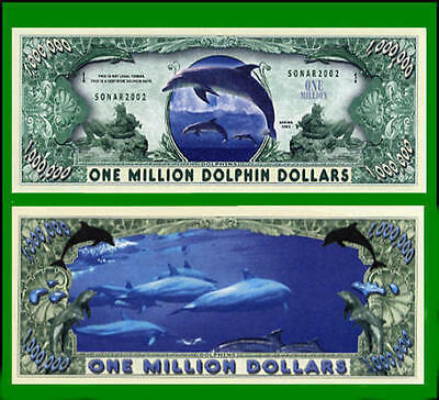 100 Factory Fresh Novelty Dolphin Million Dollar Bills - New