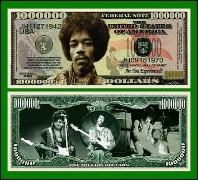 100 Factory Fresh Novelty Jimi Hendrix Million Dollar Bills