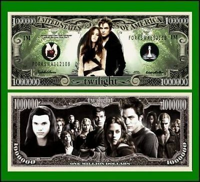 100 Factory Fresh Novelty Twilight Million Dollar Bills